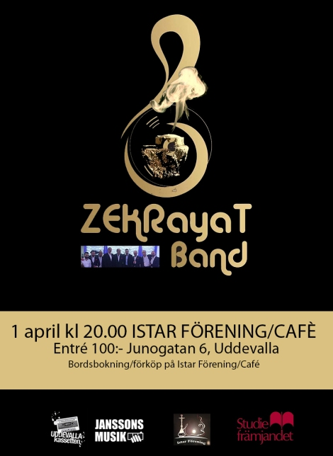 1/4 Zekrayat Band @ Istar Förening/Café (Arabisk musik ochdans)