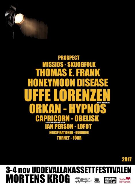 3-4/11 UddevallaKassettFestivalen 2017