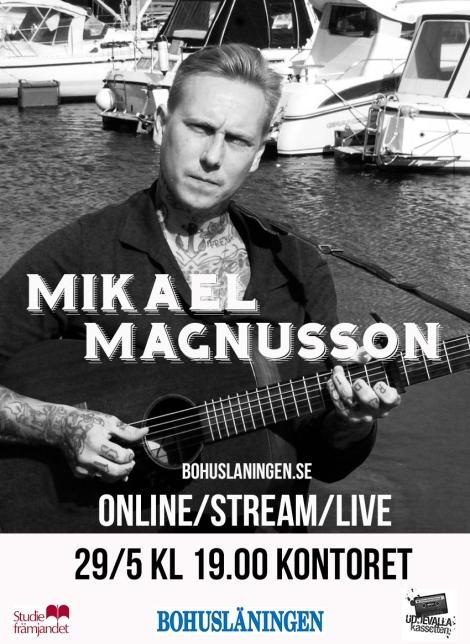 29/5 Mikael Magnusson – STREAM/ONLINE/LIVE via bohuslaningen.se